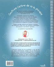 Construire L'Estime De Soi A L'Ecole Primaire C3-V1 : Valeriane L'Affirmation De Soi - 4ème de couverture - Format classique