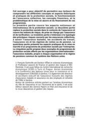 Protection sociale et assurances collectives - 4ème de couverture - Format classique