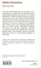 Sainte Geneviève - 4ème de couverture - Format classique