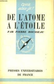 De L'Atome A L'Etoile - Couverture - Format classique