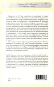 La Syrie et la France ; enjeux geopolitiques et diplomatiques - 4ème de couverture - Format classique