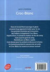 Croc-Blanc - 4ème de couverture - Format classique