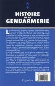 Histoire de la gendarmerie - 4ème de couverture - Format classique