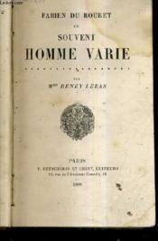 Fabien Du Rouret Ou Souvent Homme Varie. - Couverture - Format classique