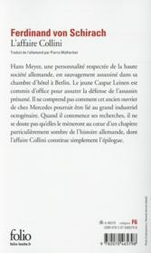 L'affaire Collini - 4ème de couverture - Format classique