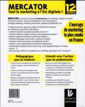 Mercator ; tout le marketing à l'ère digitale ! (12e édition) - 4ème de couverture - Format classique
