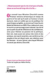 Les sautes d'humour de Winston Churchill - 4ème de couverture - Format classique