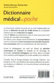 Dictionnaire médical de poche (3e édition) - 4ème de couverture - Format classique