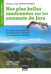 Nos plus belles randonnées sur les sommets du Jura - Couverture - Format classique
