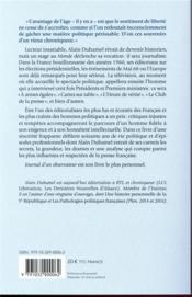Journal d'un observateur - 4ème de couverture - Format classique