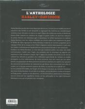 L'anthologie Harley-Davidson - 4ème de couverture - Format classique