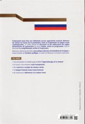 Cahier de grammaire pratique du russe ; A1-B1+ - 4ème de couverture - Format classique