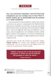 Aliénor d'Aquitaine - 4ème de couverture - Format classique