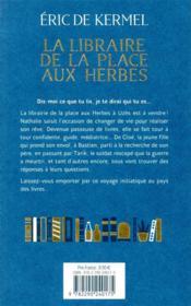 La libraire de la place aux Herbes - 4ème de couverture - Format classique