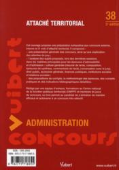 Attaché territorial - 4ème de couverture - Format classique