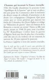 De Gaulle t.3 ; le premier des français - 4ème de couverture - Format classique