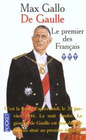 De Gaulle t.3 ; le premier des français - Couverture - Format classique