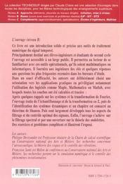 Calcul Scientifique Analyse Et Controle Numerique Du Signal - 4ème de couverture - Format classique