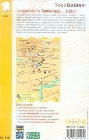 Le pays de la canourgue à pied ; des pentes à l'aubrac aux gorges du tarn - 4ème de couverture - Format classique