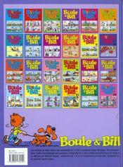 Boule & Bill T.14 - 4ème de couverture - Format classique