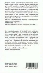 Berthold Et Bertholdin - 4ème de couverture - Format classique