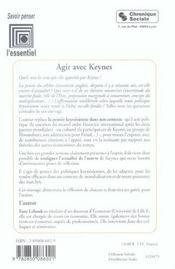 Agir avec john maynard keynes - 4ème de couverture - Format classique