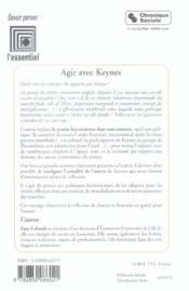 Agir Avec Keynes - 4ème de couverture - Format classique