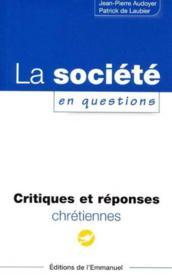 La societe en questions - Couverture - Format classique