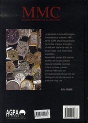 La cote de montres modernes et de collection - 4ème de couverture - Format classique