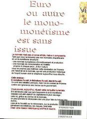 Economie Et Monnaies Structurelles - 4ème de couverture - Format classique