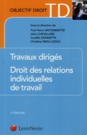 Travaux dirigés ; droit des relations individuelles de travail (5e édition) - Couverture - Format classique