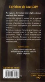 L'or blanc de Louis XIV - 4ème de couverture - Format classique