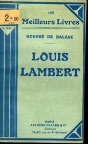 Louis Lambert - Couverture - Format classique