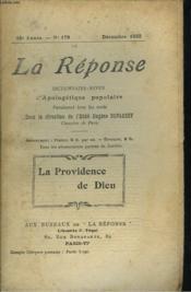 La Reponse. Revue Mensuelle D'Apologetique Populaire. N°179, La Providence De Dieu. - Couverture - Format classique