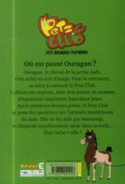 Petz Club t.1 ; où est passé Ouragan ? - 4ème de couverture - Format classique