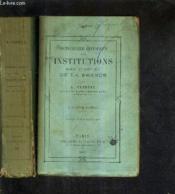 Dictionnaire Historique Des Institutions Moeurs Et Coutumes De La France / Premiere + Seconde Partie / 2 Ouvrages / 5e Edition. - Couverture - Format classique