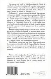 Le Général et le journaliste ; conversation avec Jean-Luc Barré - 4ème de couverture - Format classique