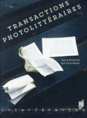 Transactions photolittéraires - Couverture - Format classique