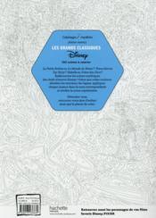 Coloriages mystères ; les grands classiques Disney - 4ème de couverture - Format classique