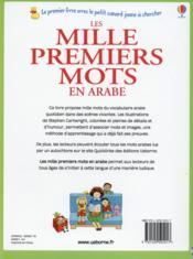 Les mille premiers mots en arabe - 4ème de couverture - Format classique