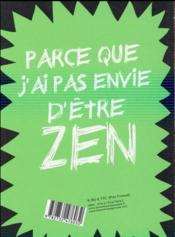 Trash ton venin ! coloriages antizen - 4ème de couverture - Format classique