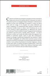 INTER-LIGNES N.17 ; automne 2016 ; aromates, épices et imaginaire - 4ème de couverture - Format classique
