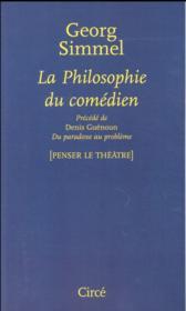 La philosophie du comédien - Couverture - Format classique