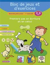 BLOC DE JEUX ET D'EXERCICES ; premiers pas en écriture - Couverture - Format classique