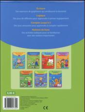 BLOC DE JEUX ET D'EXERCICES ; premiers pas en écriture - 4ème de couverture - Format classique