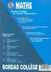 Mathematiques ; 4e - 4ème de couverture - Format classique