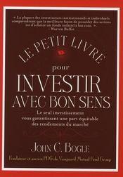 Le petit livre pour investir avec bon sens - Intérieur - Format classique