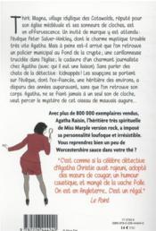 Agatha Raisin enquête T.29 ; sonnent les cloches ! - 4ème de couverture - Format classique