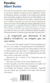 Pascalou - 4ème de couverture - Format classique