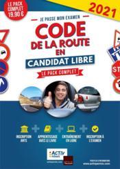 Je passe mon examen ; code de la route en candidat libre ; le pack complet (édition 2021) - Couverture - Format classique